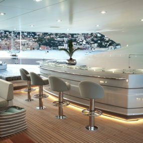 Sunseekers Flagship 155 Yacht interior 285x285 Best Modern Yacht Interior Designs