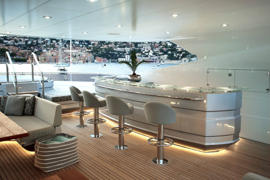 Sunseeker's Flagship 155 Yacht interior