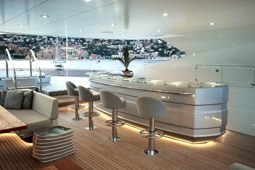 Sunseeker's Flagship 155 Yacht interior