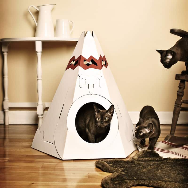 pretty design modern cat bed. View in gallery The Native American Teepee by Loyal Luxe Designer Cat Beds for Most Capricious Felines