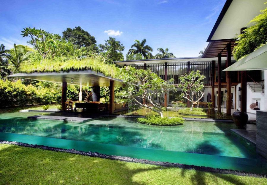 Transparent pool by Guz Architects
