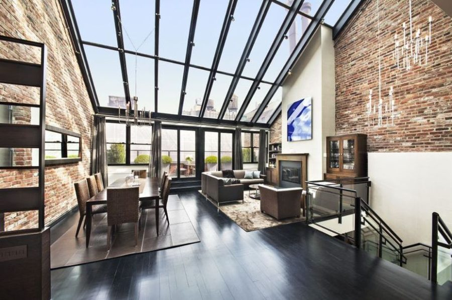 View In Gallery Tribeca Penthouse Duplex 900x597 42 Amazingly Stylish  Duplex Penthouses