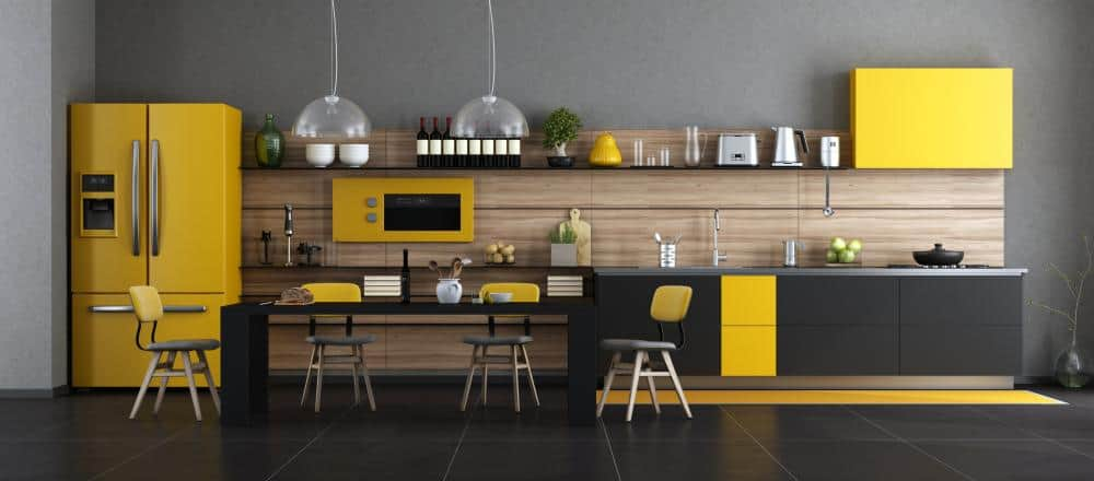 Two Tone Cabinets – Black and Yellow