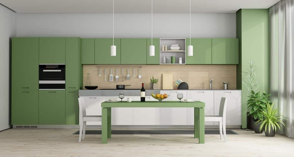 Two Tone Cabinets – Green Kitchen Cabinets