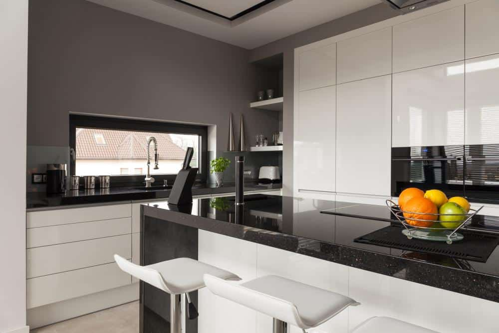 Two Tone Cabinets – White and Gray Kitchen Cabinets