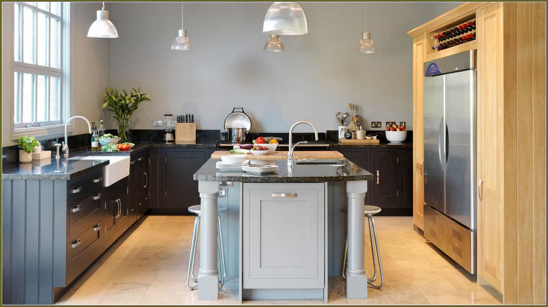Two-Tone-Gray-Kitchen-Cabinets