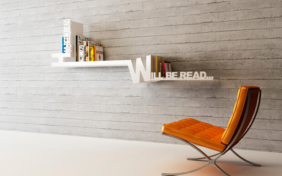 Typographic Bookshelf by Meb Rure