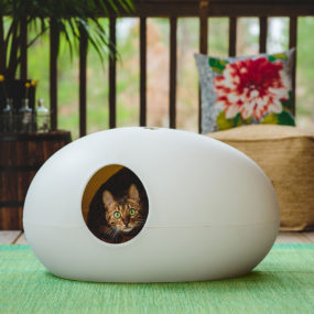 UOVO cat House 285x285 Designer Cat Beds for Most Capricious Felines