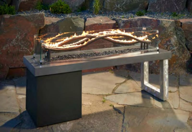Wave Fire Pit by Outdoor GreatRoom Company