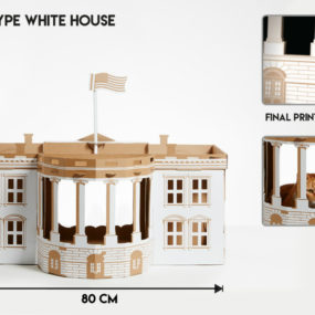 White Cat House by Poopy Cat 285x285 Designer Cat Beds for Most Capricious Felines