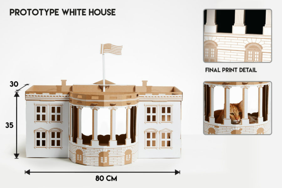 White Cat House by Poopy Cat