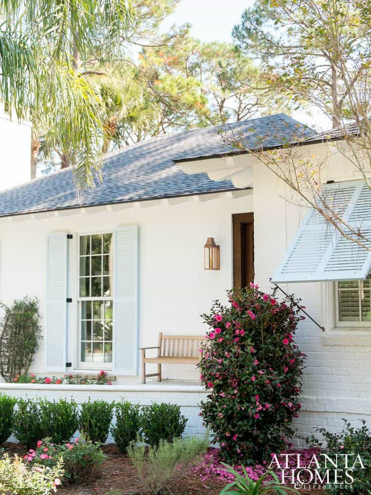 White Painted Brick Beach Ranch