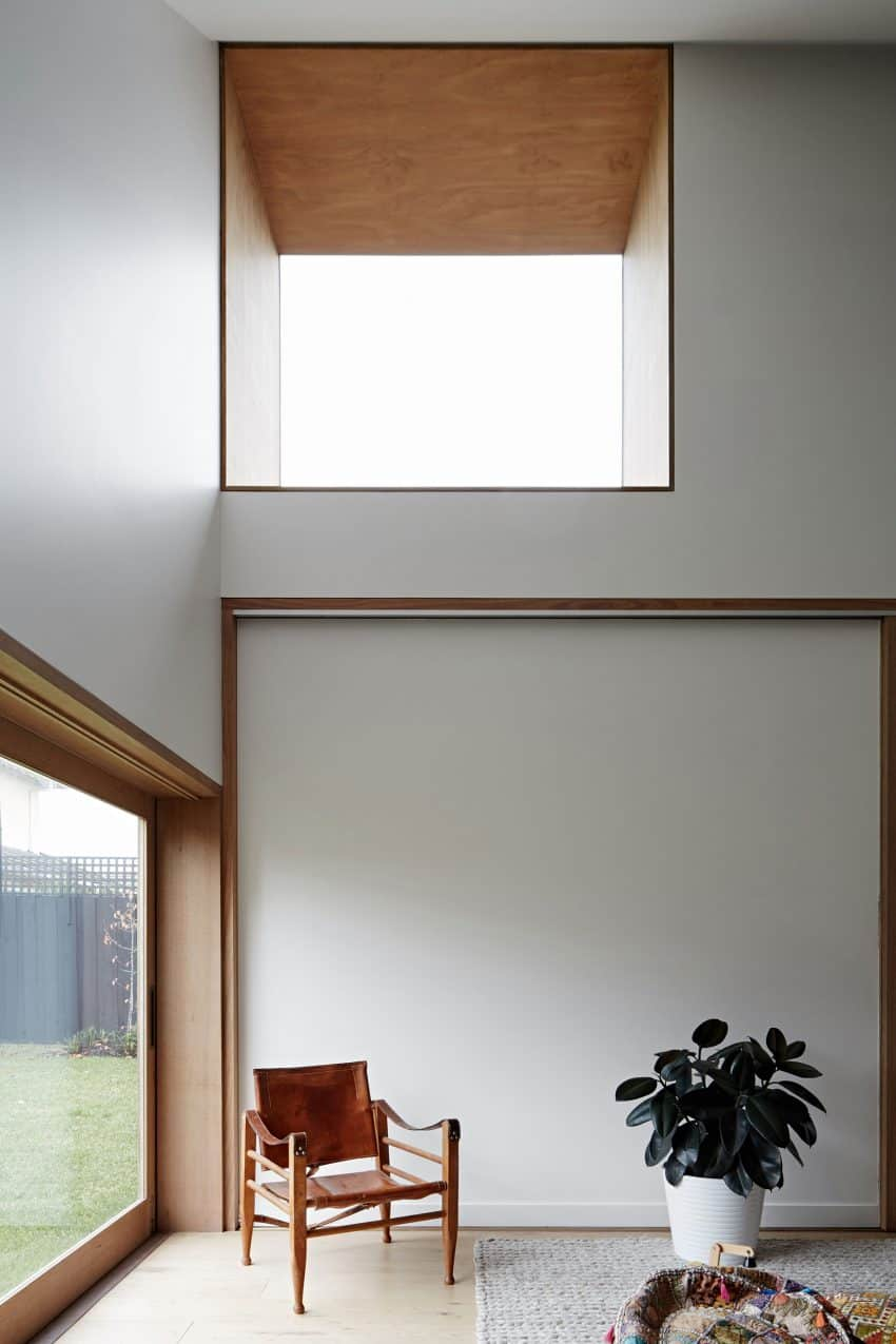 Wide framed windows allow natural light disperse throughout the interiors