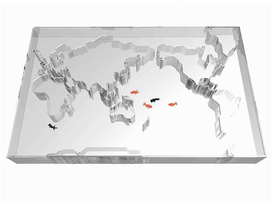 World Trip fish tank by Takuro Yamamoto Architects