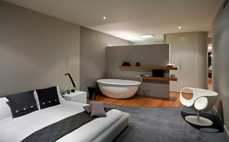 Bedroom/bathroom by Finnis Architects