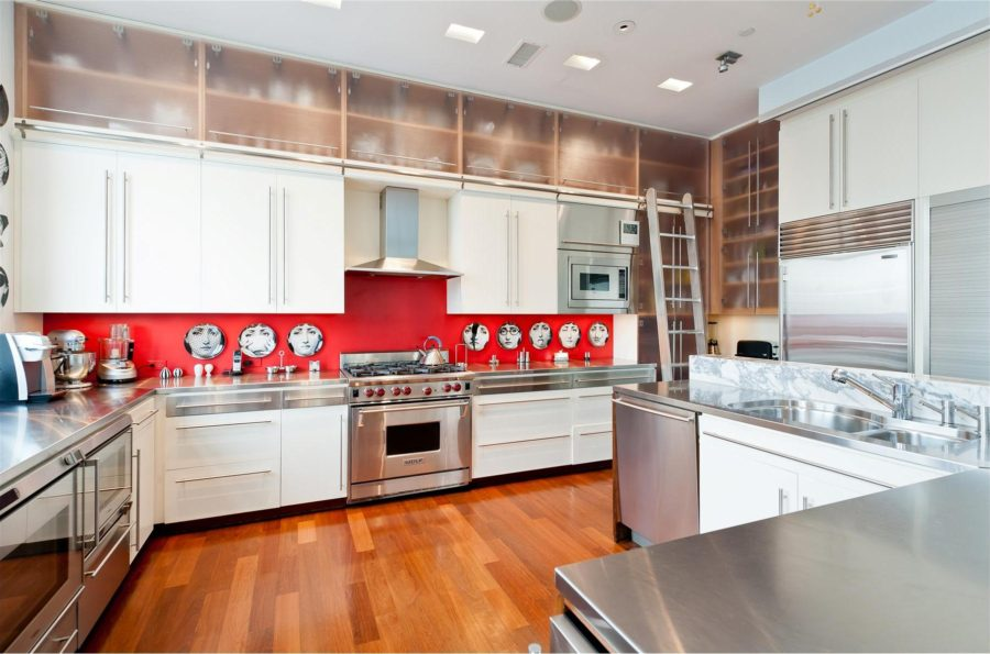 Black And Red Kitchen Designs adorable red country kitchen design with storage and red dining table with wooden chairs and pendants View In Gallery Best Black And White People Face Red Kitchen