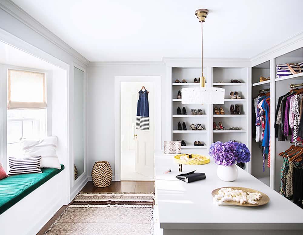 Closet designed by Nate Berkus Associates