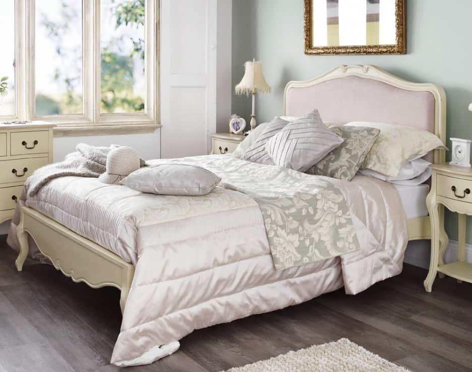 elegant-king-size-beds-headboard-grey-color-headboard-with-white-wooden-frames-white-wooden-bed-frames-white-silky-floral-pattern-covered-bedding-sheets-white-wooden-bedside-tables-with-drawers-king-936×738
