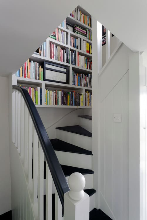Tiny bookshelf staircase