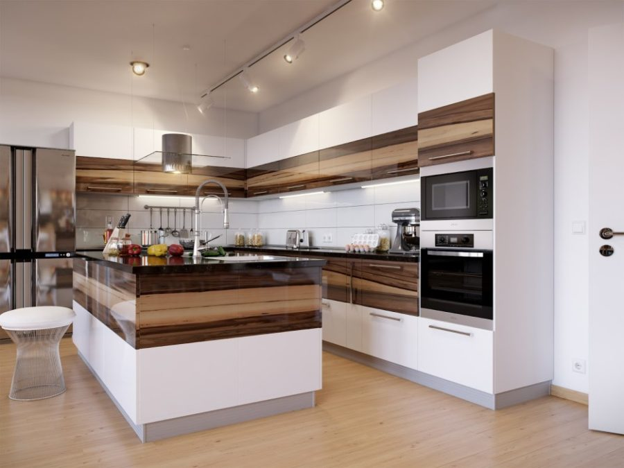 View In Gallery Furniture Kitchen Two Tone Layer Solid Wood Mixed