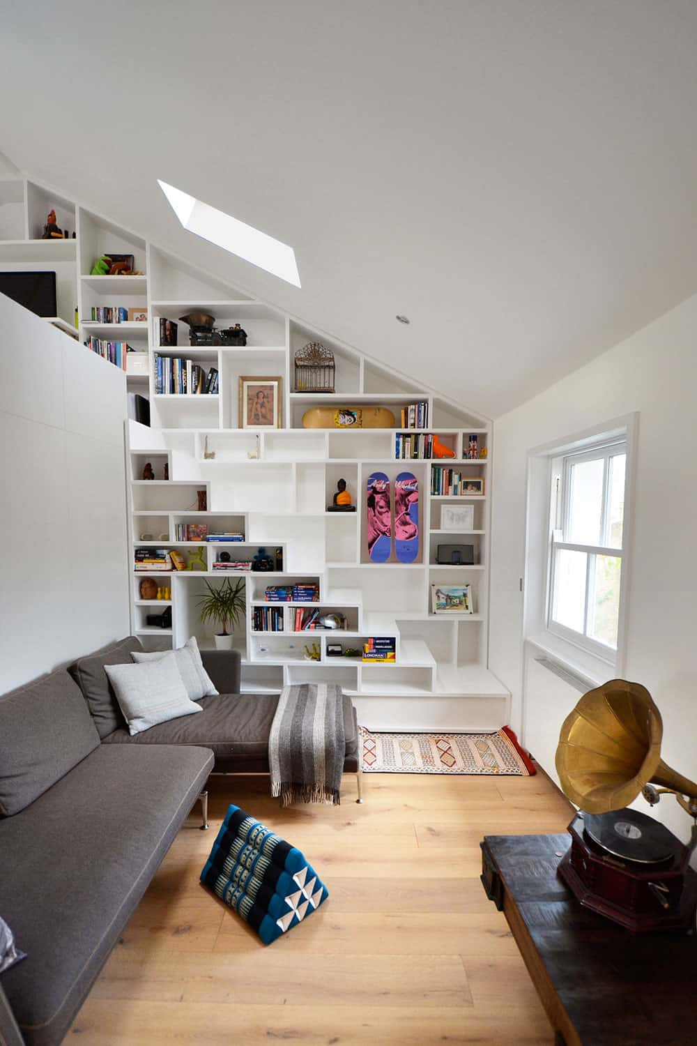 View In Gallery Book Shelf Staircase Wall