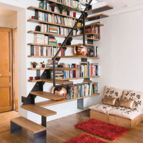 staircase design idea to combine it with a library 3 285x285 20 Ways to Turn Stairs into an Amazing Bookshelf Library