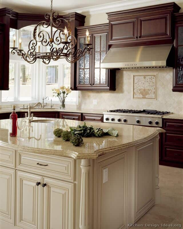 View In Gallery Two Tone Kitchen Cabinets