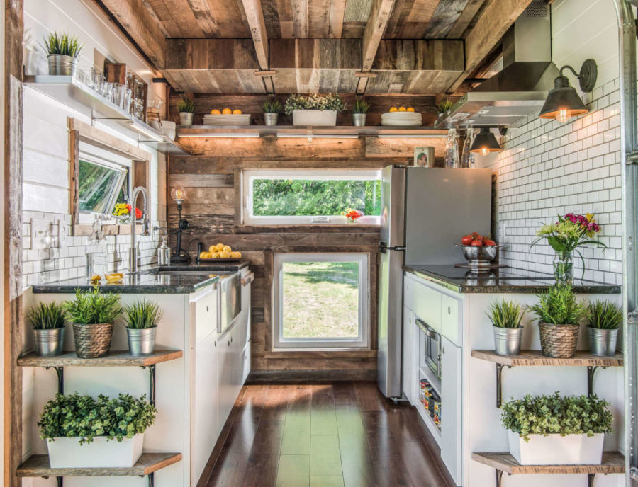 Alpha tiny house kitchen