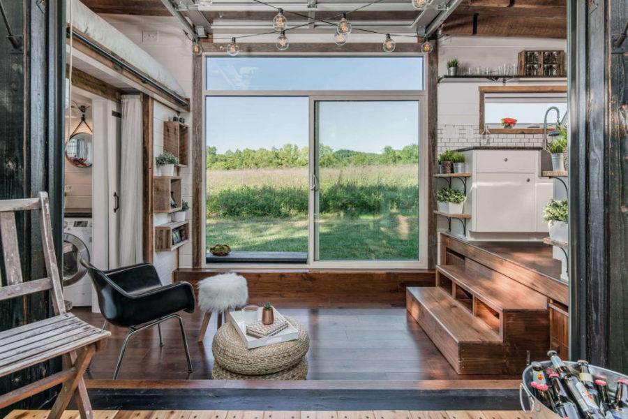 Alpha tiny house living room