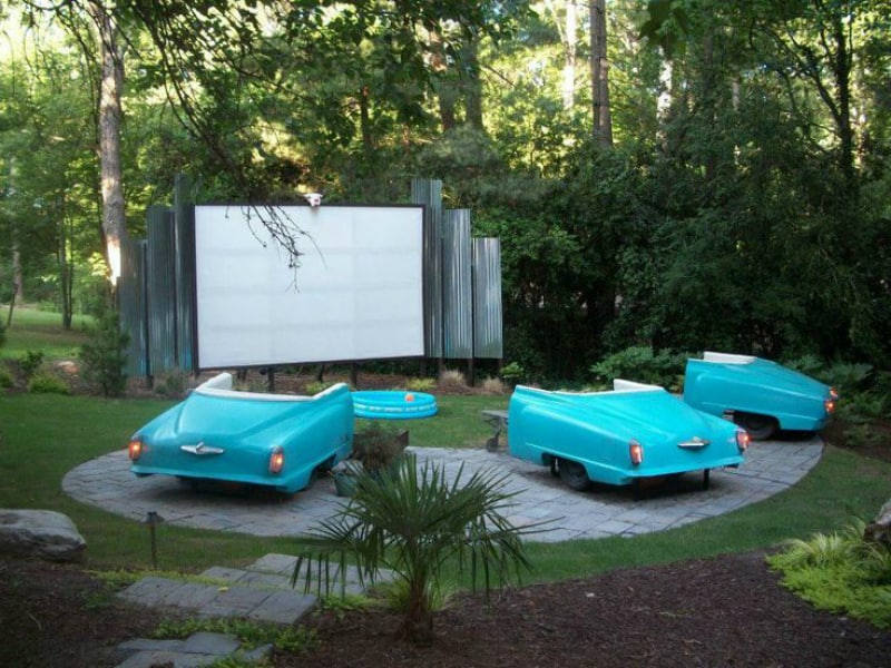 Backyard theater idea