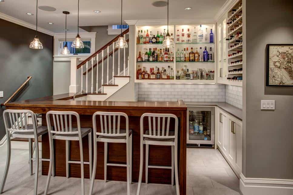 Basement bar by Jeff Pelletier