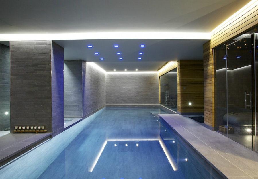 Basement indoor pool Design by Guncast