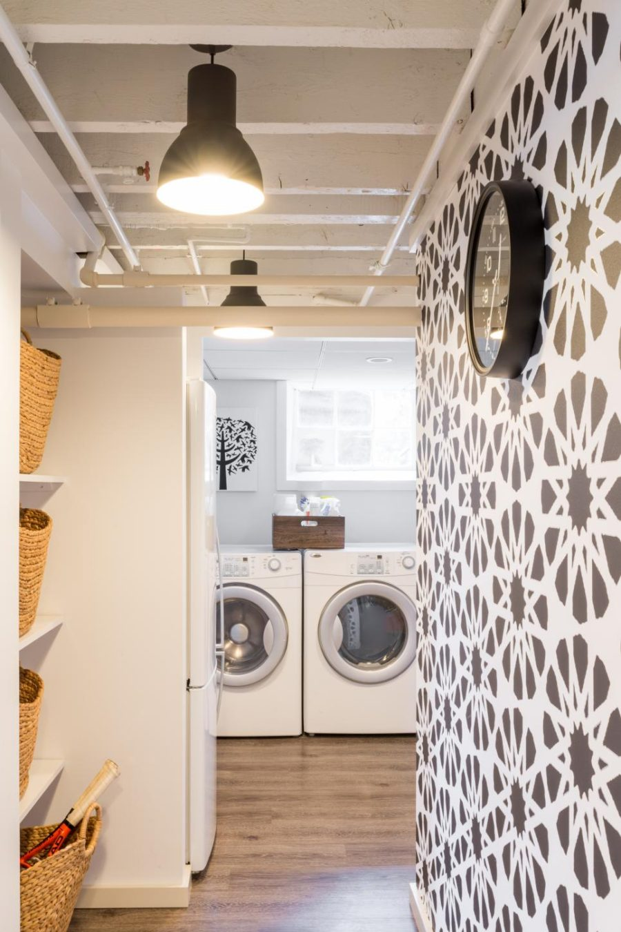 Basement laundry room by Justine Sterling