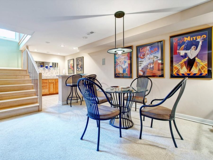 Basement living space by S&K Interiors