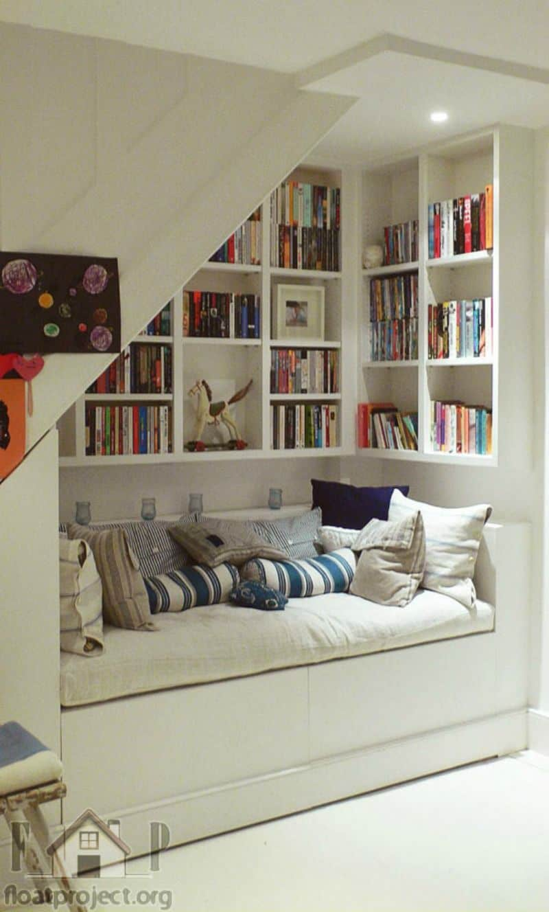 Basement reading nook