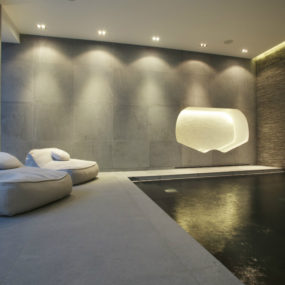 Basement spa by Design by Guncast 285x285 Cool Basement Ideas to Inspire Your Next Design Project