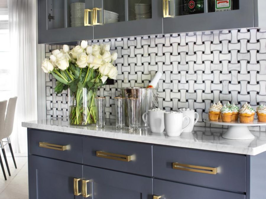 Basketweave backsplash by Brian Patrick Flynn