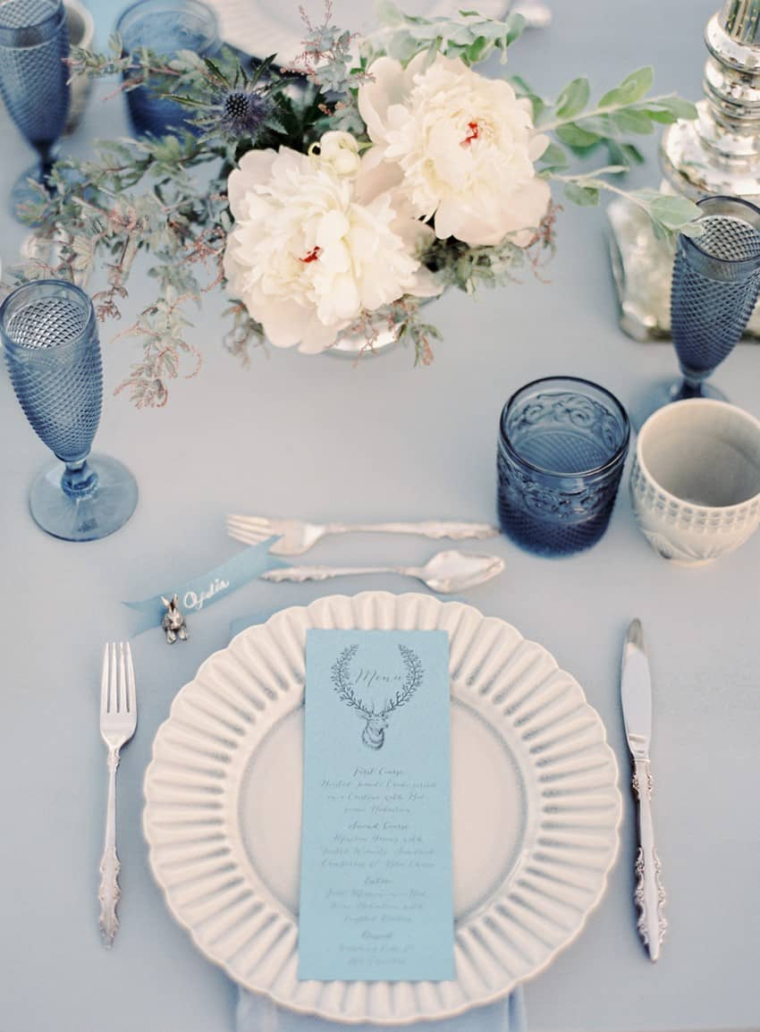View in gallery Blue wedding table setting & Table Setting Ideas For Any Occasion
