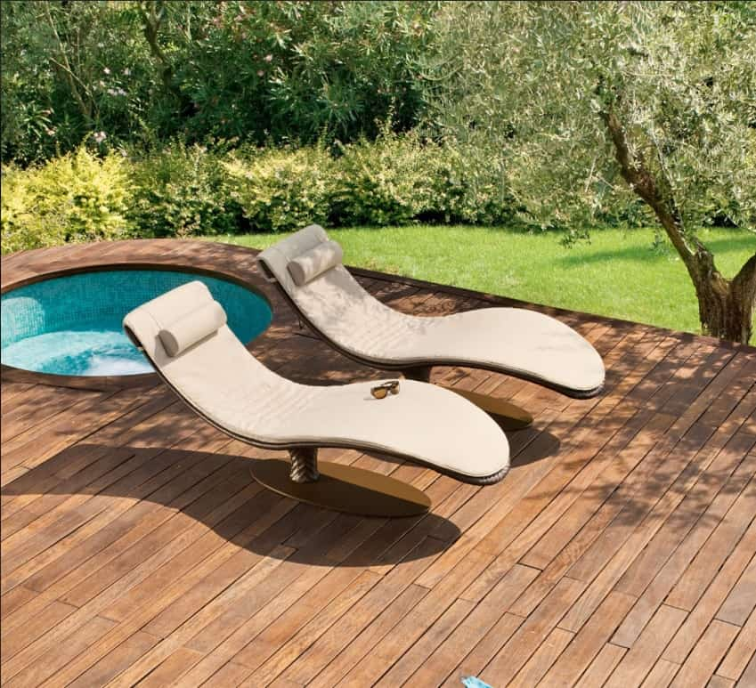 ultra modern pool lounge chairs to turn your backyard into retreat. Black Bedroom Furniture Sets. Home Design Ideas