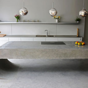 Concrete kitchen island 285x285 Get Creative: Cool Designs and Ideas for Home