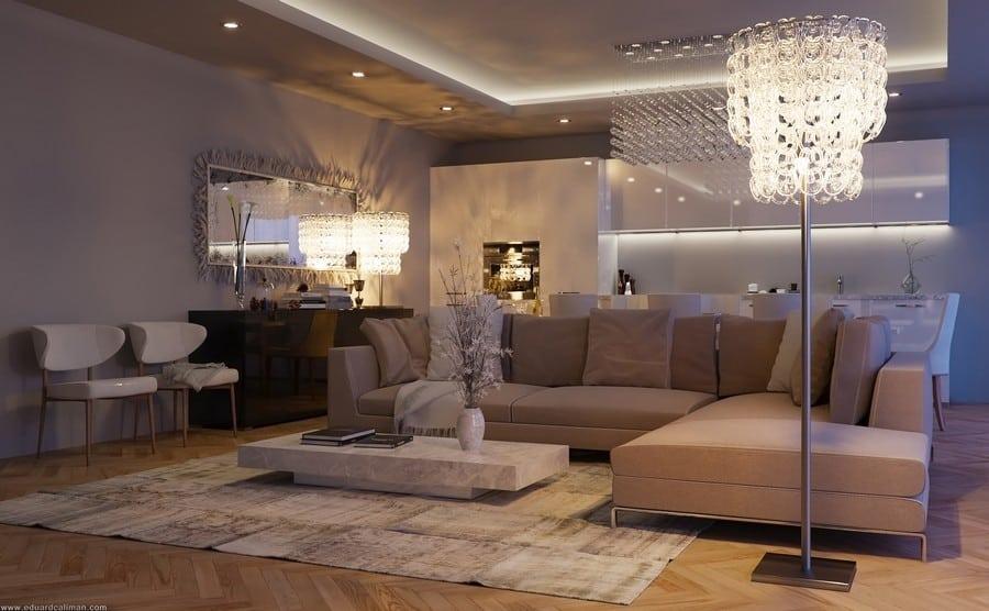 Contemporary Living Room by Eduard Climan