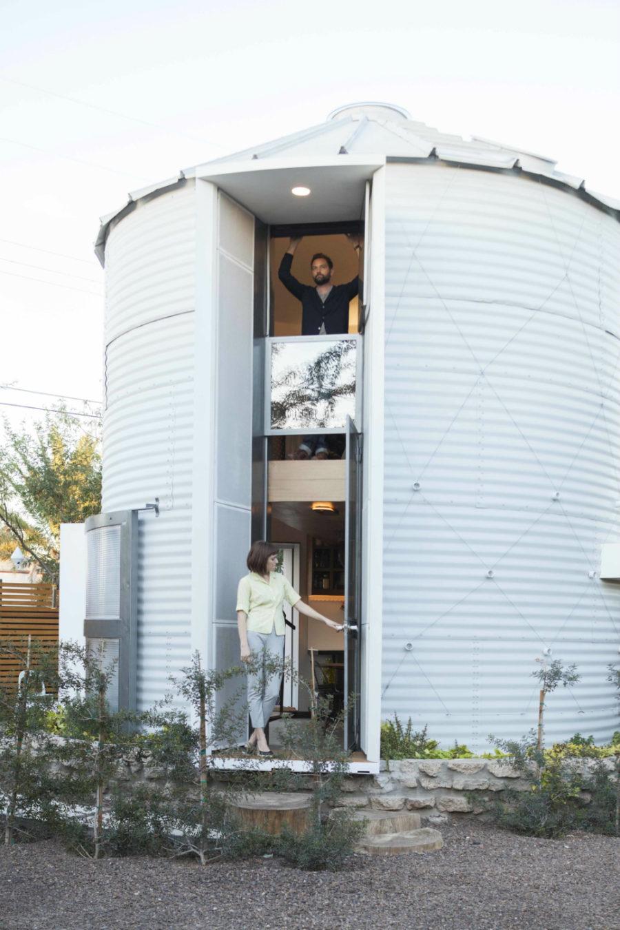 Converted grain silo