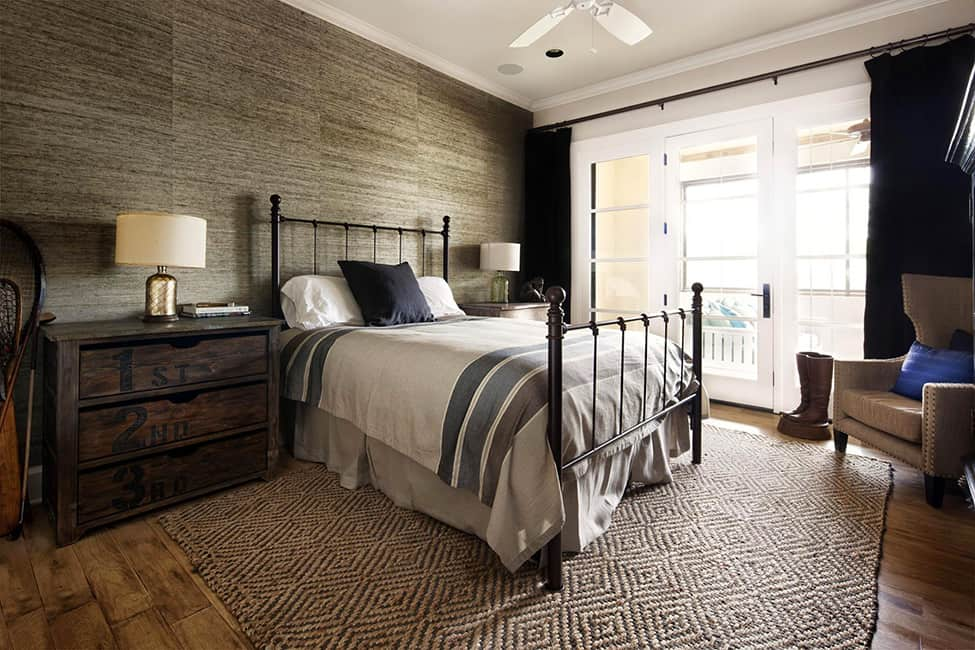 Cozy bedroom with rustic modern decor