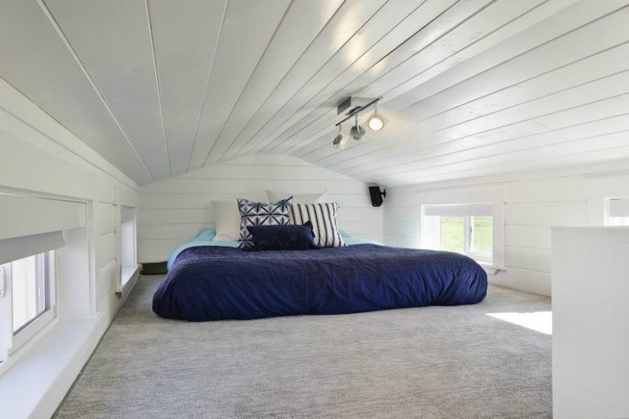 Custom tiny home bedroom