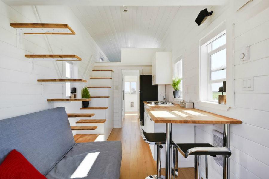 Custom tiny home living area