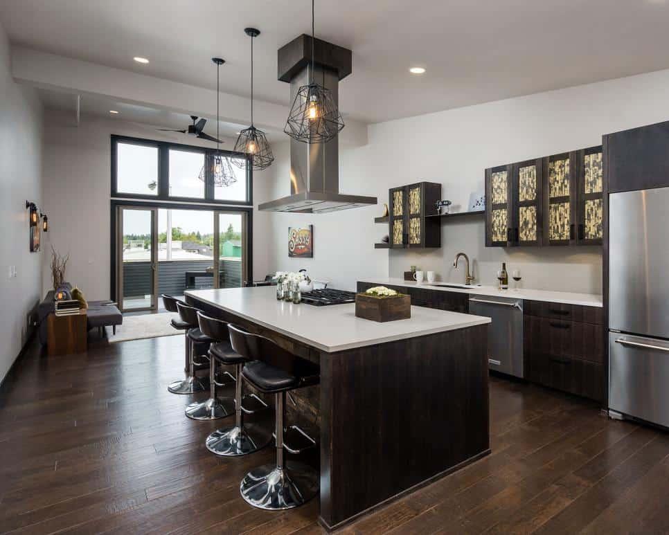 Dark kitchen design by Jordan Iverson