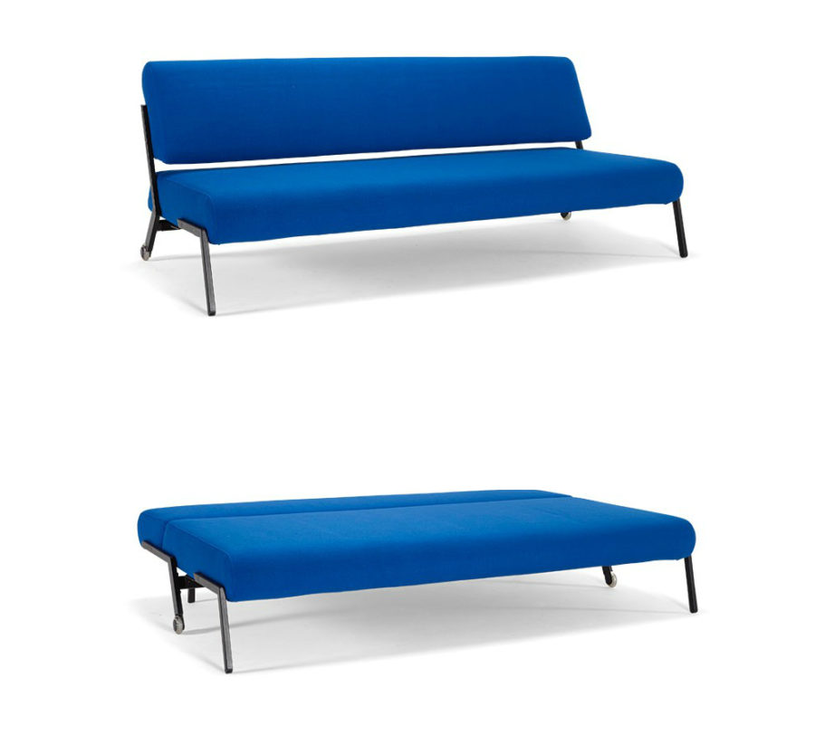 Sleeper sofa with chaise what color goes well with brown for Blue leather chaise lounge