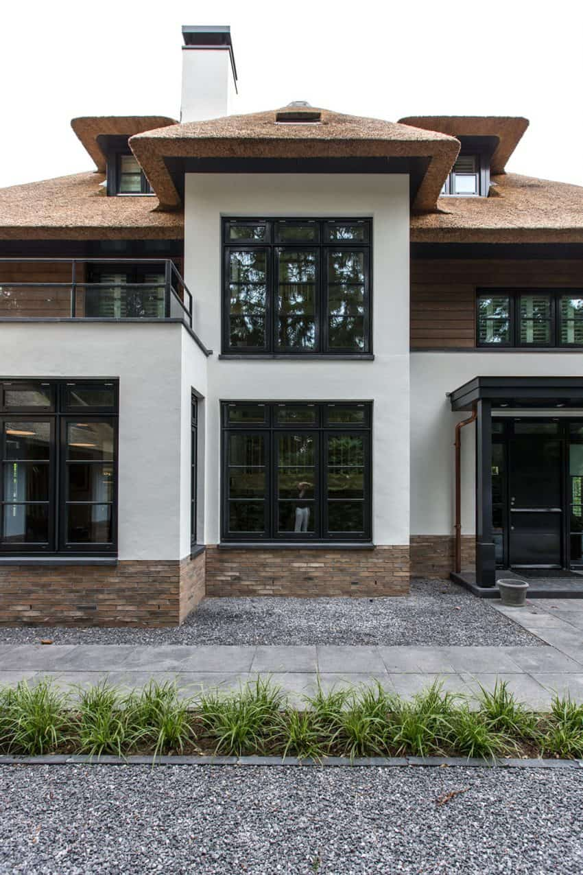 Double window and glass railings maximize natural light exposure