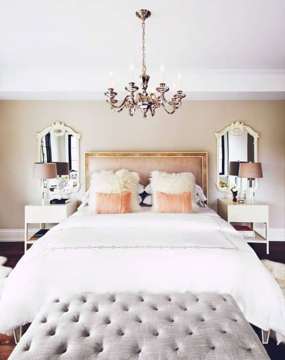 View In Gallery Elegant Bedroom Design With Chandelier Abrove