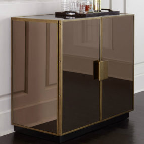 Elsa Mirrored Bar Cabinet 285x285 See Your Face in Every Surface with Mirrored Furniture